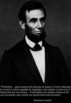 Abraham Lincoln led opposition against Prohibition in Illinois. 1840s #prohibition #marijuana #cannabis