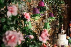 Painel de vasos pendurados: Verão das Fadas...
