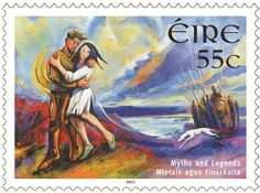 Myths and Legends stamps - Deirdre of the Sorrows by AnPost,