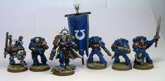 Ultramarines command squad & captain