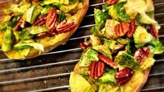 Shawn Johnson's The Body Department - Brussels Sprouts and Pecan Stuffed Sweet Potatoes