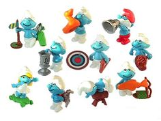 Kinder Surprise Egg Toys of the Smurf's from 2002.