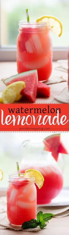 Watermelon Lemonade | http://JenniferMeyering.com