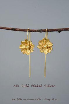 Silverly Femmes Argent .925 poli Boucles Floral filigrane fleur Larme Pendants doreilles