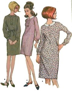 1960s Sheath dress sewing pattern McCalls I love this pattern. I made several dresses like this for myself as a teenager.