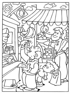 Eating herring - Holland themed coloring pages