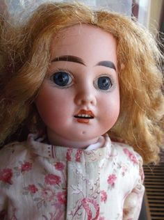 Adorable antique bisque French doll J. J. Jeanson, paperweight eyes