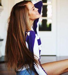 Long thick hair.