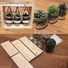 Instant Access To Woodworking Designs, DIY Patterns & Crafts Artificial Succulents, Succulents Diy, Planting Succulents, Succulent Plants, Jar Crafts, Wood Crafts, Diy Crafts Home, Diy Home Decor Easy, Handmade Home Decor