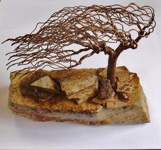 Wire Art Tree Sculpture