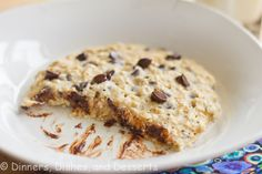 """Microwave Oatmeal Breakfast """"Cookie""""  But... live cultures will probably be dead from the microwave, so don't count on the """"healthy-live-cultures"""" aspect to stick in this recipes."""