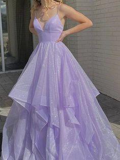 Stunning Prom Dresses, Pretty Prom Dresses, Hoco Dresses, Dance Dresses, Beautiful Dresses, Lavender Prom Dresses, Purple Prom Dresses, Light Purple Prom Dress, Lavender Dress Formal