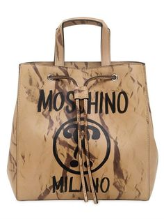 MOSCHINO . #moschino #bags #shoulder bags #hand bags #leather #bucket #lace #