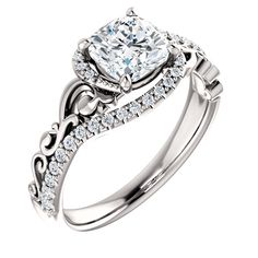This very enchanting unique engagement ring will suit absolutely anybody. It is available in and Yellow, White and Rose gold. Also could be made in Platinum. Customized to fit your budget. Get Yours Today ! Engagement Ring Sizes, Halo Diamond Engagement Ring, Vintage Engagement Rings, White Gold Diamond Earrings, White Gold Diamonds, Rose Gold, Bridal Rings, Diamond Cuts, Moissanite