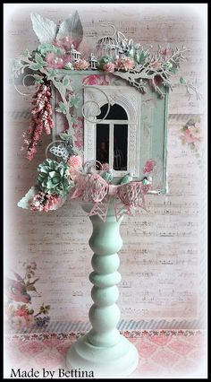 Scrap-Unlimited: Candlestick Frame Crafts, Crafts To Do, Diy Craft Projects, Arts And Crafts, Paper Crafts, Diy Crafts, Shabby Chic Crafts, Vintage Crafts, Shabby Chic Decor