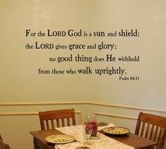 For the Lord God is a sun and shield