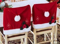capa de cadeira para o Natal