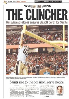Front page of the Times-Picayune on Dec. 28, 2010