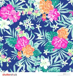 stock-vector-hawaiian-tropical-floral-print-seamless-background-254412571.jpg (1500×1600)