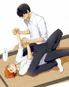 I DO NOT SHIP THEM ROMANTICALLY I'M ONLY SAVING FOR KAGEYAMA'S HAIR AND BLUSH