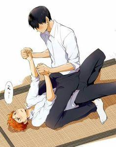 Kageyama Tobio x Hinata Shouyo / Haikyuu! Haikyuu Kageyama, Haikyuu Manga, Haikyuu Funny, Haikyuu Fanart, Haikyuu Ships, Hinata Shouyou, Comic Anime, Manga Anime, Anime Kiss