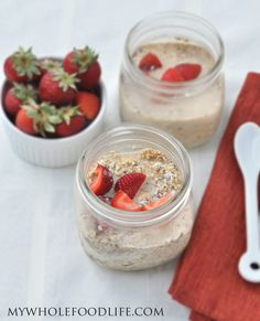 Strawberry Overnight Oats - My Whole Food Life