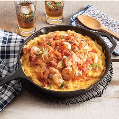 Smoked Gouda and Cheddar add creaminess to this full-flavored Shrimp and Grits Casserole. Cajun Recipes, Shrimp Recipes, Cooking Recipes, Cajun Food, Creole Recipes, Easy Recipes, Grits Casserole, Casserole Recipes, Smoked Gouda Cheese