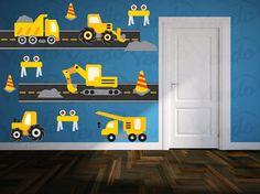 Construction Truck Decal Boys Nursery Decals Children Wall