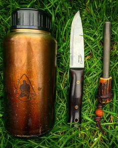 I was asked to show the three items I would take with me in a survival situation. I'd take my @jackloreknives bushcraft knife, firesteel made and gifted to me by @mcqbushcraft1 and my pathfinder bottle #bushcraft #outdoors #photooftheday #survival #survivalist #woods #woodland #forest #prepping #wilderness #nature #handmade #edc #camping #hiking #backpacking #life #yolo #tactical #instagram #wild #wildcraft #wildcamp #crafts #woodwork #woodcraft #sloyd #kuksa
