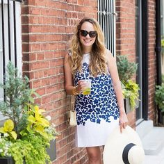 """""""I almost always pack something Draper James when I go to Charleston – bright colors are right at home there, and they just make me feel happy and pretty."""" @graceatwood has the right idea! xoxo #regram #draperjamesgirl"""