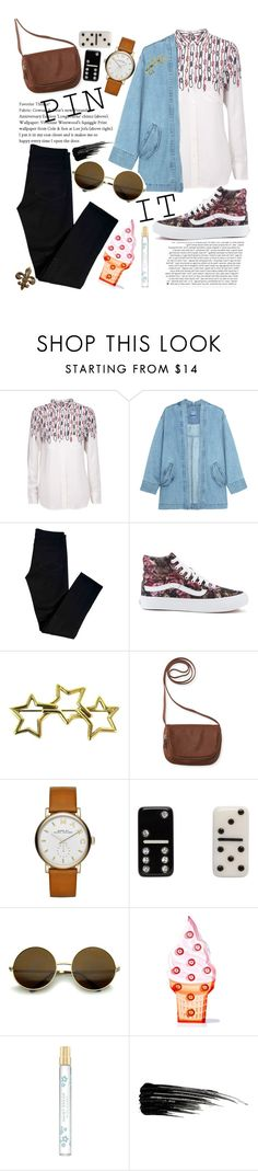 """""""Untitled #52"""" by nia-georgieva ❤ liked on Polyvore featuring Equipment, J Brand, Vans, Tiffany & Co., Aéropostale, Marc Jacobs, Sunnylife and Urban Decay"""