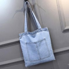 Large Denim Causal Tote