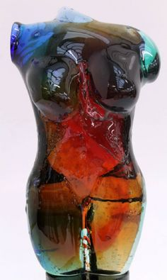 Contemporary Murano Glass Sculpture Of A Female Torso By Maestro Female Torso, Art Of Glass, Murano Glass, Great Artists, Stained Glass, Sculptures, House Design, Vase, Contemporary