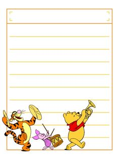 """Pooh Parade with title box - Project Life Disney Journal Card - Scrapbooking. ~~~~~~~~~ Size: 3x4"""" @ 300 dpi. This card is **Personal use only - NOT for sale/resale** Logos/clipart belong to Disney. ***Click through to photobucket to see this this card with lots of different characters***"""