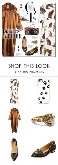 """Cat Power"" by anne-irene ❤ liked on Polyvore featuring Dolce&Gabbana, Casetify, Roksanda, Gucci and Charlotte Olympia"