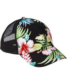 Xhilaration® Floral Baseball Hat - Black