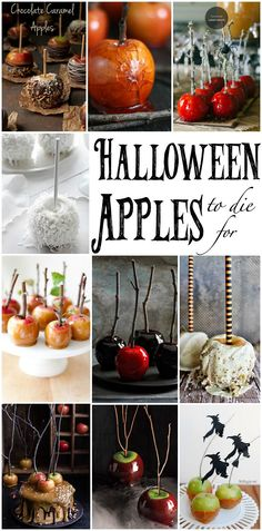 These are the most wickedly delicious Halloween apples I have ever seen. Theyre to die for! If youre looking for Halloween treats then youve found them. Halloween Candy Apples, Halloween Goodies, Halloween Food For Party, Halloween Cakes, Holidays Halloween, Halloween Treats, Halloween Recipe, Halloween Birthday, Chocolate Apples