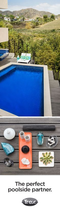 Try this silvery gray decking look for your poolside oasis. Order decking samples at Shop.trex.com and see if Island Mist is the deck color of your tropical dreams.