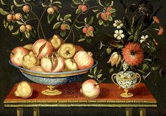 Unknown (Spanish) Lemons and Pomegranates in a Maiolica Tazza 1700