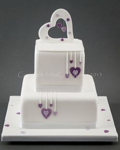 weddingcakes hearts - Google Search