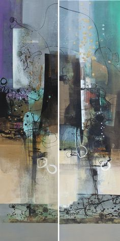 For Amber Ways (Diptych)