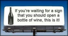 Sign of wine