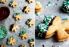 Shamrock-shaped Baileys Irish Cream Cookies. Yum!