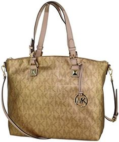 8d74115dddb MICHAEL Michael Kors Signature Metallic Satchel Review. Gold Handbags,  Leather ...