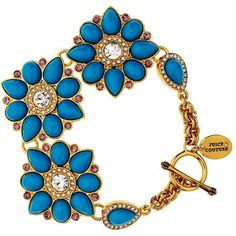 Juicy Couture Cabachon Cluster Bracelet ($68) ❤ liked on Polyvore