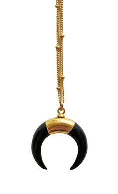 luna mini necklace - black