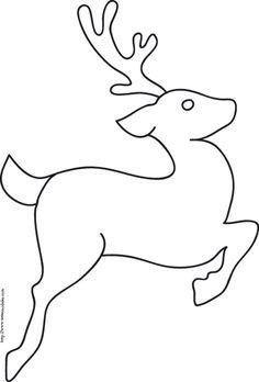 coloriage du renne qui saute