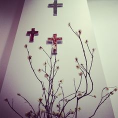 We have some pretty talented staff here at FABRIC. Thanks to Richmond Richmond De Vere for the floral art display at FABRIC. They fit perfectly with our floral 'Undercover' crosses. Undercover, Crosses, Thankful, Display, Fit, Pretty, Fabric, Flowers, Inspiration