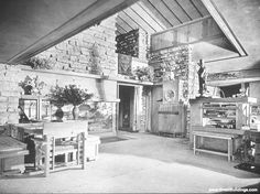 Taliesin, by Frank Lloyd Wright, at Spring Green, Wisconsin, 1911 and 1925.