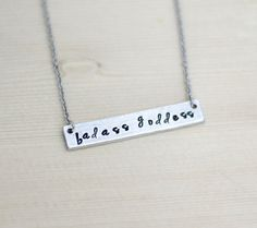 Badass Goddess Bar Necklace, Badass Necklace, Hand Stamped Badass Jewelry, Jewelry for Badass Women, Sister Necklace, Best Friend Gifts by ThingsUncommon